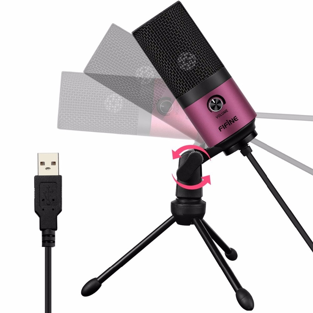 Metal USB Microphone with Tripod